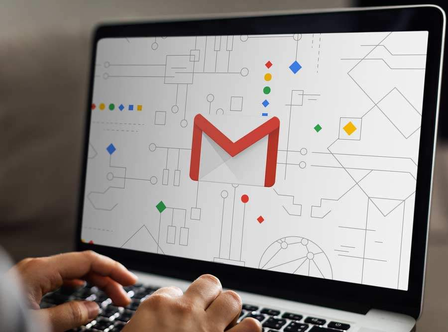 gmail icon in a laptop
