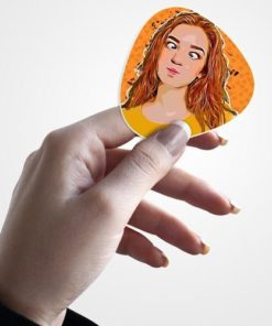 sticker in female hand