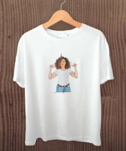 t-shirt with girl cartoon avatar printed