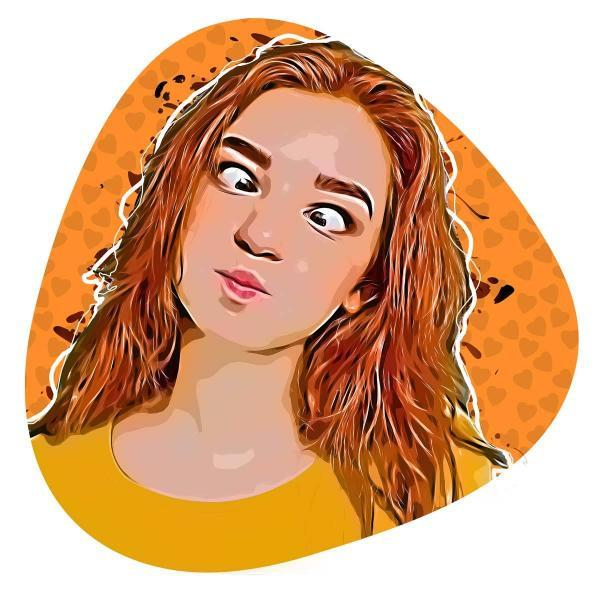 illustrated avatar of a girl
