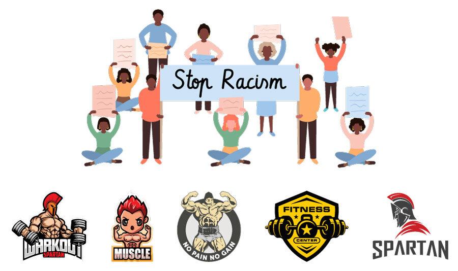 stop racism - Gym re-branding